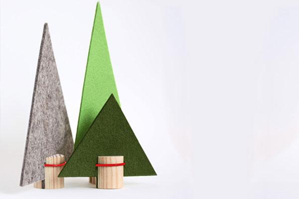 winterwald,-tannenbaum,-filz